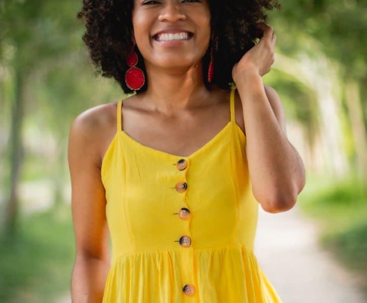 African American girl good skin