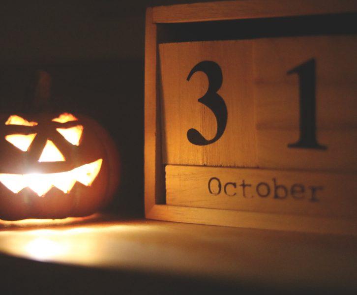 jack-o-lantern on Oct 31
