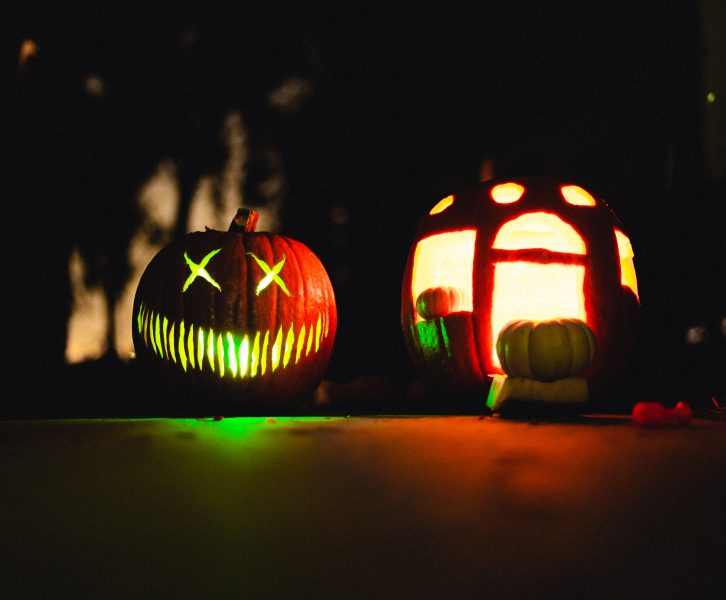 pumpkins and jackolanterns