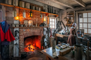 Fireplace and Apprentice in the tin shop