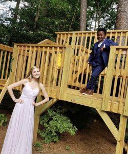 Prom in backyard